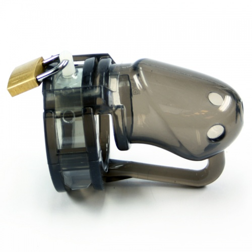 BON4 Chastity Device Transparent Black - B4-B4015
