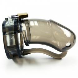 BON4L Chastity Device Transparent Black - b4-b4016