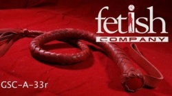 Whip with flexible handle (red) by Fetish Company - ru-a33red