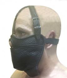 Lederen Mondknevel Masker - os-0516