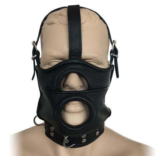 Saxos Lederen Masker met collar - os-0519