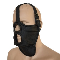 Saxos Leather Mask with Opening - os-0514