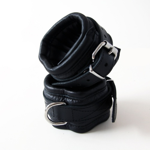 Saxos Textured Leather Ankle Cuffs - os-mi036