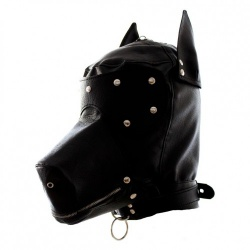 PU-Leather Dog Mask - bhs-283