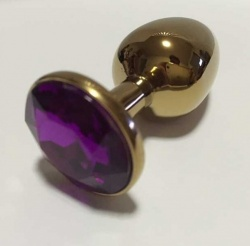 Anal Jewelry Plug Purple - bhs-288