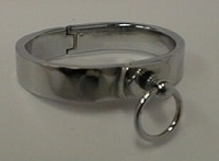 Bracelet of polished stainless steel, 16mm wide by Masters in Steel - MiS-PB16