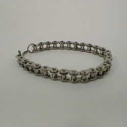 Bracelet chrome plated, small chain by Masters in Steel - MiS-PB1