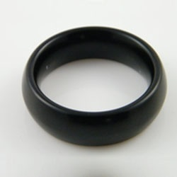Masters in Steel Black Lightweight Cockring 18mm - mis-crdb18