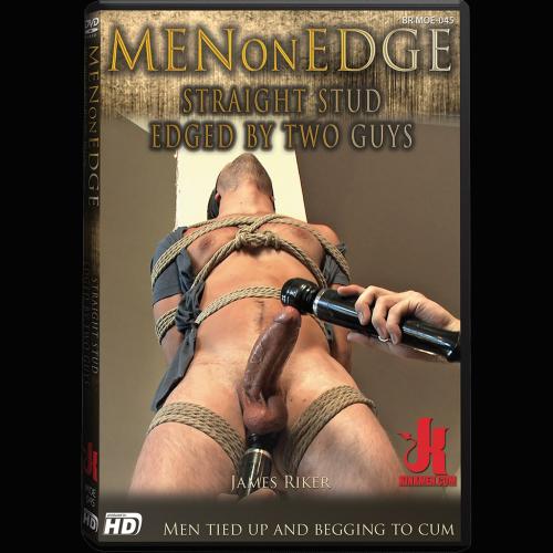 Men On Edge 45 - Straight Stud Edged by Two Guys - KINK-MOE-045