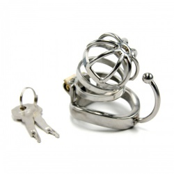 Stainless Steel Male Chastity Device - bhs-339