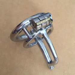 Stainless steel urethral plug chastity device - bhs-340