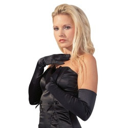 Cottelli Collection Satin Gloves - or-0220256