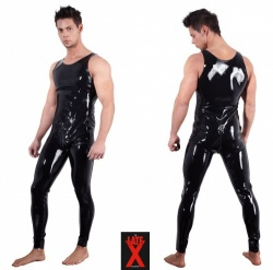 Latex Jumpsuit maten S > XXL - Or-2910306