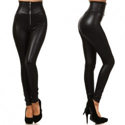 Wetlook strakke taille legging - mae-cl-003