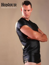 Leatherette Men's T-Shirt size Medium - Hr-H1175-M