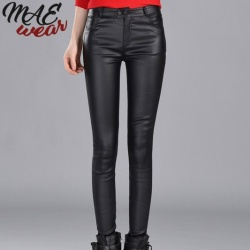 Faux Leather Jeans - mae-CL-017