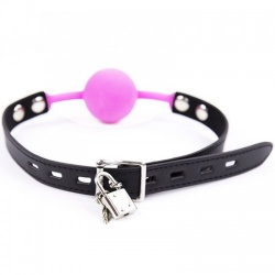 The Hush Silicone Lockable ball gag - Pink - mae-sm-182pnk-l