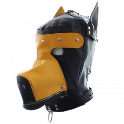 PU Leather Dog Hood - mae-sm-041