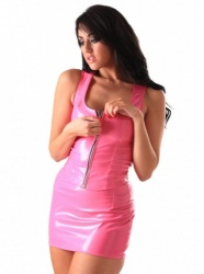 PVC Candy Zip Vest Top size UK 16 - EU 44 - Hr-H2113-UK16