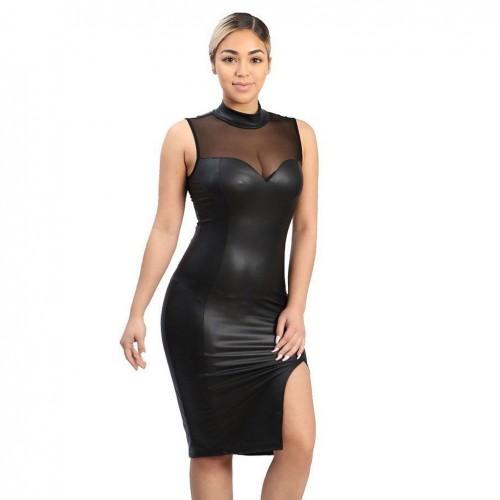 Sleeveless Slim Fashion Party Dress - mae-cl-023