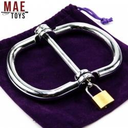 Stainless Steel Wristcuffs Male Size - mae-SM-048m