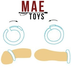 28 mm Adjustable Size Small Penis / Cock Ring by MAE-Toys - MAE-SM-052