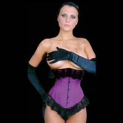 Satijnen onderborst Corset (101 Cm - 40 inch) Paars - car-019-purple