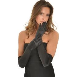 Female Stretch Satin Opera Gloves One Size - mae-cl-031