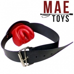 Red Latex Tongue Gag by MAE-Toys - mae-SM-061R