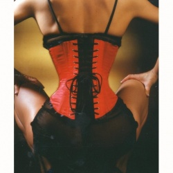 Red satin halfbust corset ec005 - ET-EC005-SAT-RED