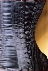 Nobles Satijn corset (56 cm - 22 inch zwart) - et-ec007-sat-blk