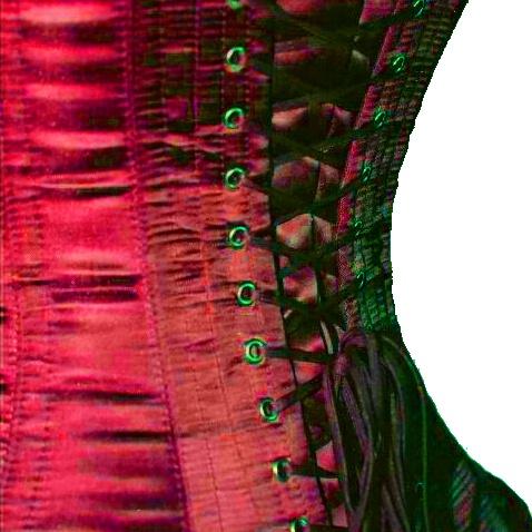 Nobles Satin corset  - ET-EC007-SAT-RED