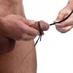 This kit by ZEUS includes a urethral sound, cock and ball loop, and the necessary leads.