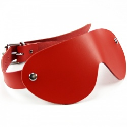 Red Leather Blindfold - fp-005