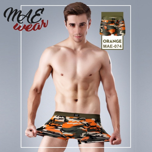 Boxer short in oranje-camouflage print - MAE-CL-074