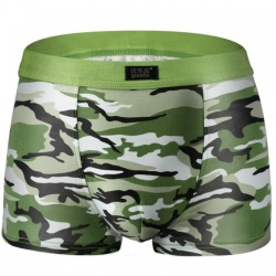 Boxer short in light green-camouflage print - mae-cl-075