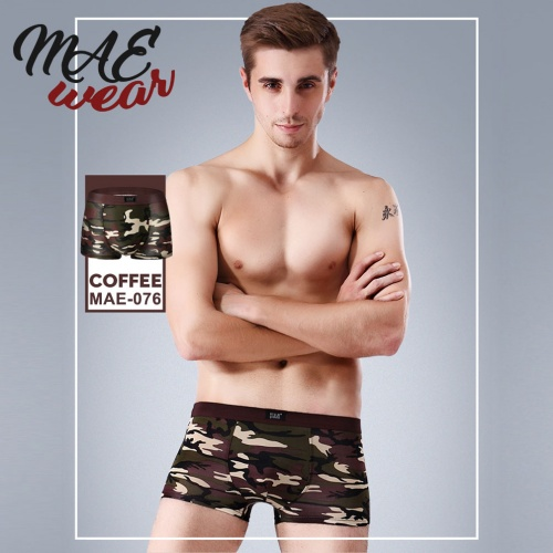 Boxer short in donker-rood camouflage print - mae-cl-076