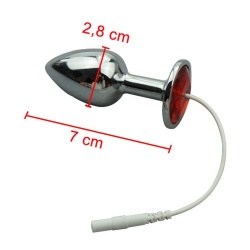 ElectroSex Ø 28 mm Jewel Anal Plug  - mae-fm-083-28