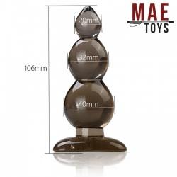 Siliconen 3-Bol Anale Plug - 106 mm - mae-ty-098-106