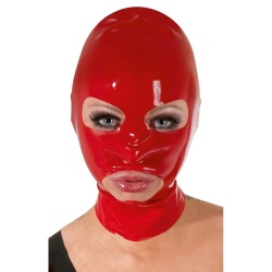 Kopfmaske Latex - Rot - or-29200503001