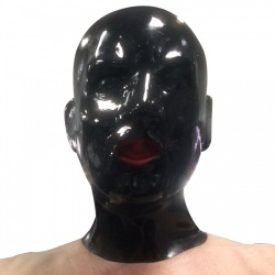 0.8mm latex hood with mouth sheath tongue - mae-sm-107