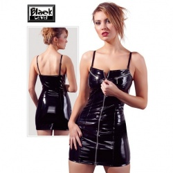 Lackkleid mit Zip von Black Level - or-2850320
