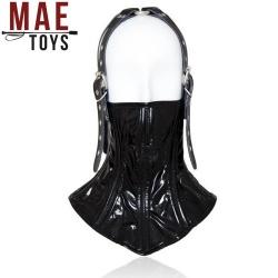 Bondage Slave Boned Neck Corset Collar - mae-sm-121