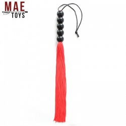 Red Silicone Genitals Whip - MAE-SM-123-Red