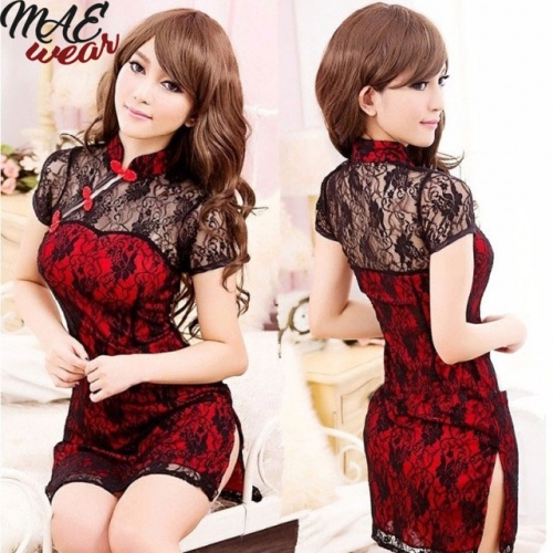 Classical Chinese Cheongsam Lace Dress - MAE-CL-125