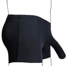 Zwarte Boxer Short met Penis sleuf - mae-cl-092-box