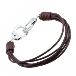 MAE-Wear Leather Handcuffs Wristband - mae-cl-161