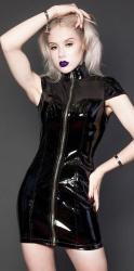 MAE-Wear Vinyl & Mesh Minidress - mae-cl-162