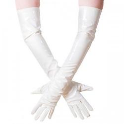 Witte Lak Handschoenen maat X-Large - le-1285-wht-xl
