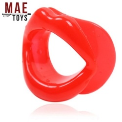 MAE-Toys Silicone Open Mouth Gag Red - mae-sm-167r